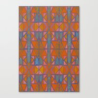 Nabu Tribal Orange Canvas Print