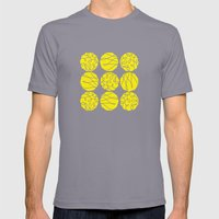 Yellow Mens Fitted Tee Slate SMALL