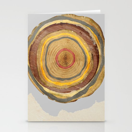 Tree Rings Stationery Card
