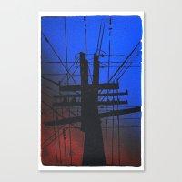 Information Tubes Canvas Print