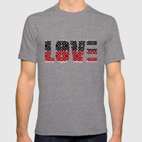 Love Mens Fitted Tee Tri-Grey SMALL