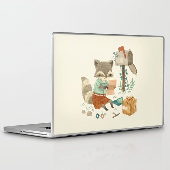 Raccoon Post Laptop & iPad Skin