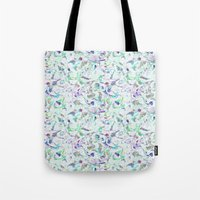 Marbled in blues Tote Bag