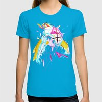End Me Like A Story Womens Fitted Tee Teal SMALL