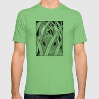 Bunny in the Grass Mens Fitted Tee Grass SMALL