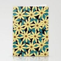 Gerbera Black Stationery Cards