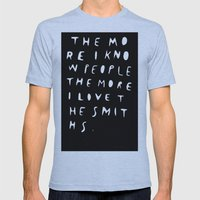 THE MORE I KNOW PEOPLE Mens Fitted Tee Athletic Blue SMALL