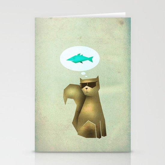 Fish and Chips Stationery Card