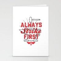 Always Strike First Stationery Cards