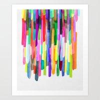 Colorful Stripes 4 Art Print
