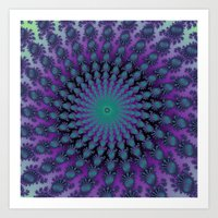 Cool Hued Purple Blue Br… Art Print
