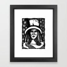 prada lady Framed Art Print