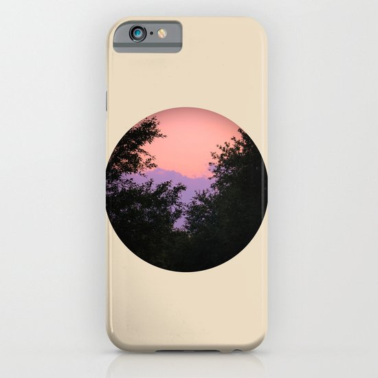 Clouds As Mountains Circular iPhone & iPod Case