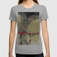 Winter In Paris Womens Fitted Tee Athletic Grey SMALL