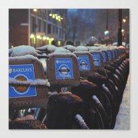 London Snow Canvas Print
