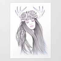 Deer Spirit Art Print