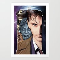 doctor who Art Prints featuring Doctor Who by SRB Productions