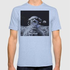 Spaceman (blue) Mens Fitted Tee Athletic Blue SMALL