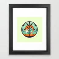 Framed Art Print featuring Acquario by Freshinkstain