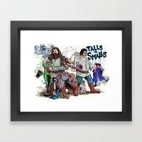 TALLS VS. SMALLS Framed Art Print