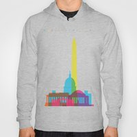 Shapes of Washington D.C. Accurate to scale Hoody