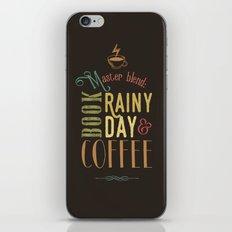 Coffee, book & rainy day iPhone & iPod Skin