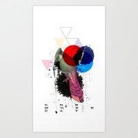 Bird Colours Art Print