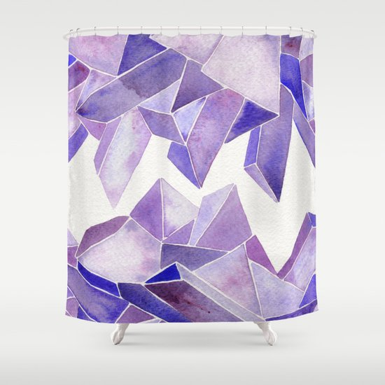 Amethyst Watercolor Shower Curtain
