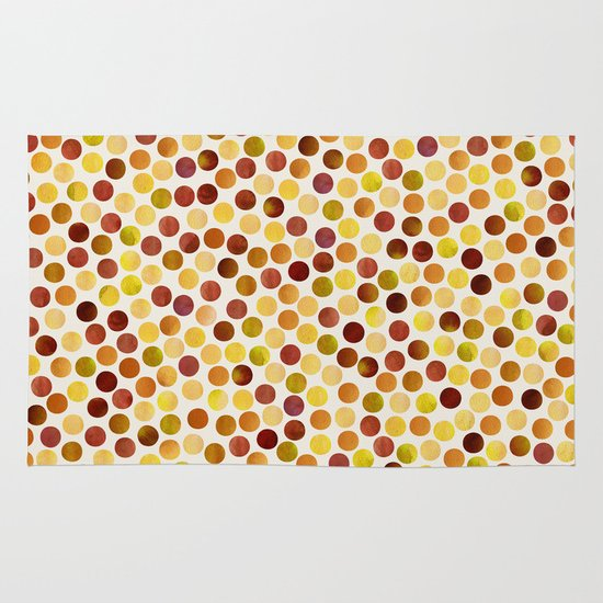Watercolor Dots_Amber Area & Throw Rug