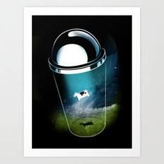 Encounters of the Dairy Kind Art Print