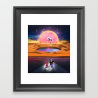 The Hole World Framed Art Print
