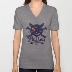 Alley Cats Unisex V-Neck