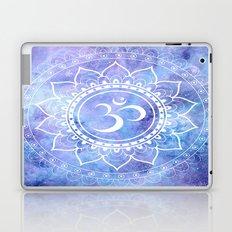 Om Mandala Lavender Perinwinkle Blue Galaxy Space Laptop & iPad Skin