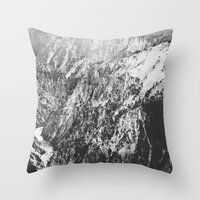 Canyon Black And White Throw Pillow