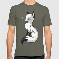 Fox and a Butterfly Mens Fitted Tee Lieutenant SMALL