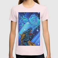 blue dragon fire artist Womens Fitted Tee Light Pink SMALL