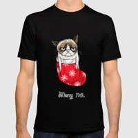 grumpy christmas Mens Fitted Tee Black SMALL