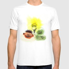 Street Trio Mens Fitted Tee White SMALL