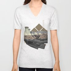 The future a time to reminisce. (mixed media) Unisex V-Neck