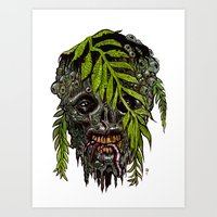 Heads of the Living Dead  Zombies: Sea Man Zombie Art Print
