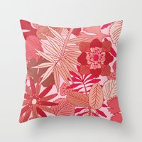 Botanic in Rose Throw Pillow
