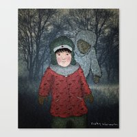 Посмотри! Йети - Beware of the Yeti!  Canvas Print