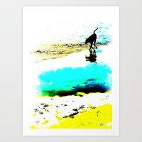 Beachcomber Art Print