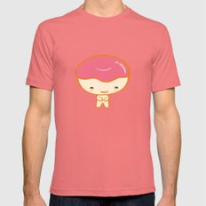 Donuto - Strawberry Topping Mens Fitted Tee Pomegranate SMALL