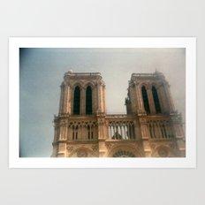 Dreamy Notre Dame  Art Print