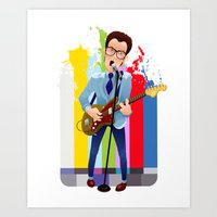Elvis (Costello) Lives! Art Print