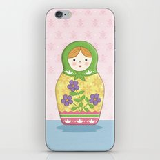 Matryoshka Doll (green & yellow) iPhone & iPod Skin
