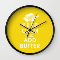 Keep Calm And Add Butter Wall Clock