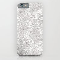 Flowers In Lines iPhone 6 Slim Case