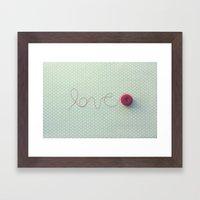 love in string Framed Art Print